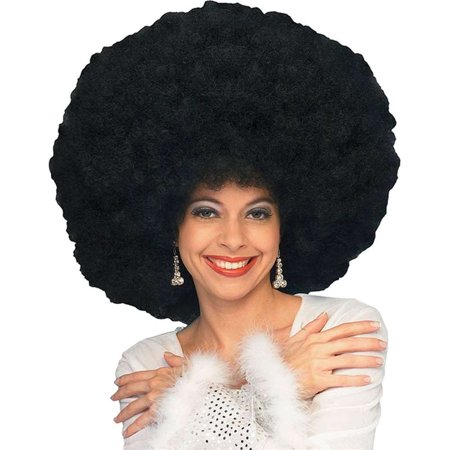 Giant Black Afro Wig for $<!---->