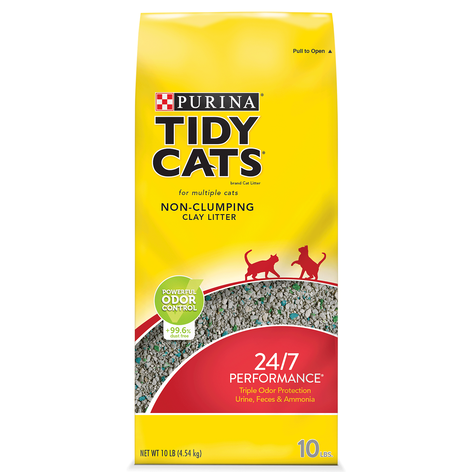 Purina Tidy Cats 24/7 Performance for Multiple Cats Non-Clumping Cat Litter - 10 lb. Bag