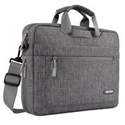Mosiso Polyester Messenger Laptop Shoulder Bag for 11.6-13.3 Inch MacBook Air Pro Notebook Computer Protective Briefcase Carrying Case, Gray