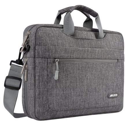 Mosiso Polyester Messenger Laptop Shoulder Bag for 11.6-13.3 Inch MacBook Air Pro Notebook Computer Protective Briefcase Carrying Case,