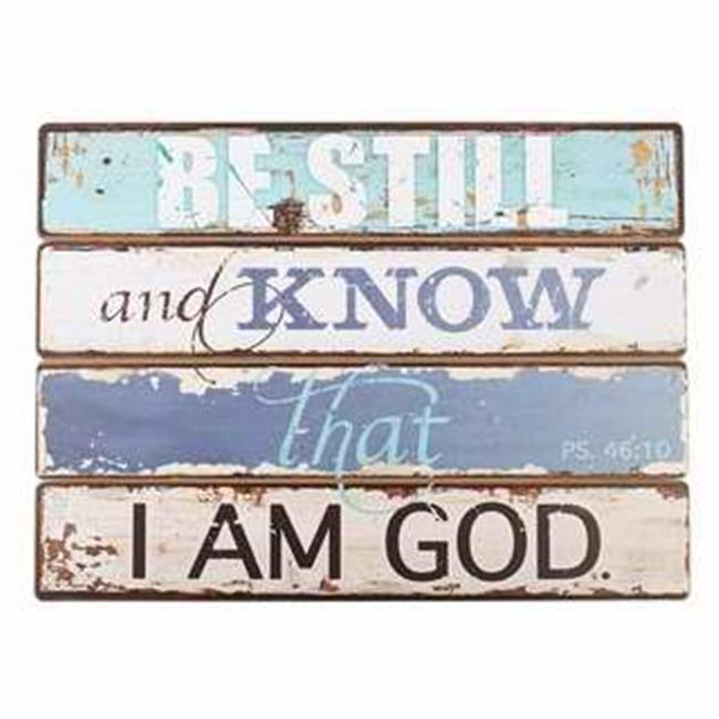 Christian Art Gifts 365988 Wall Plaque - Be Still