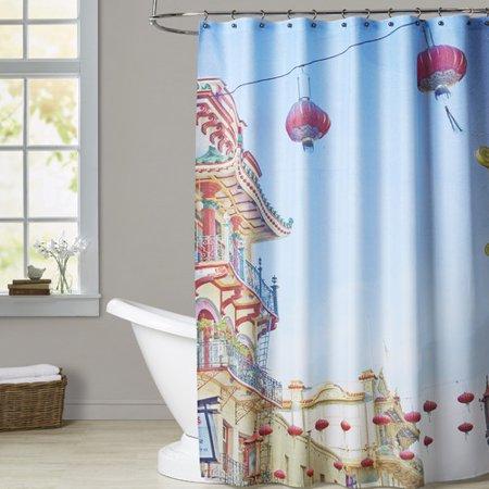 Brayden Studio Mina Teslaru San Francisco Tops 3 Single Shower Curtain