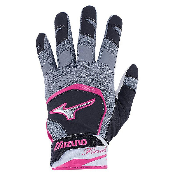 Mizuno Finch Womens Batting Gloves Pink//Black Womens Small