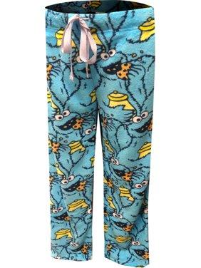 Sesame Street Women's Sesame Street Cookie Monster Soft Minky Plush Lounge Pants
