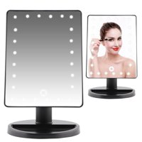 LYUMO 10X Magnifier Makeup Mirror, 24 LED Touch Screen Cosmetic Mirror Women Gift Battery / USB Power Supply