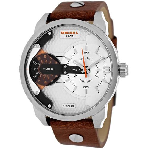 Diesel Men's Mini Daddy DZ7309 Brown Leather Analog Quartz Watch