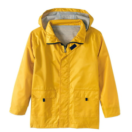 Lined Rain Slicker Jacket (Little Boys & Big Boys) Childrens Polyester Show Coat
