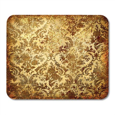 SIDONKU Beige Gold Vintage in Golden Patterns Brown Colored Rust Rustic Scrap Mousepad Mouse Pad Mouse Mat 9x10 inch ()