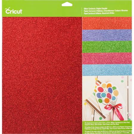 Cricut Glitter Cardstock Sampler 12