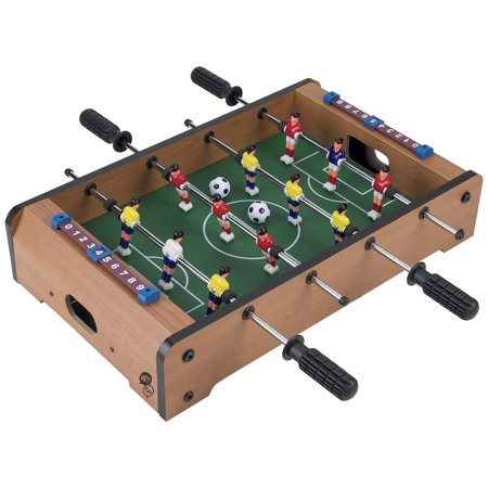 Foosball Table for Kids by Hey! Play! - 20 Inches (Air Hockey Table Glow In The Dark)