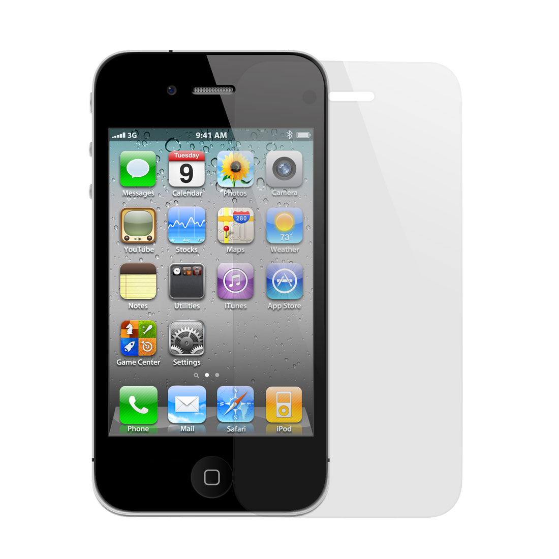 Unique Bargains Transparent Clear Front Screen Film Shield Guard for iPhone 4 4G 4S 4GS