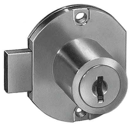 COMPX NATIONAL C8704-C415A-3 Disc Tumbler Cam Door Lock,BRGTBRS,C415A