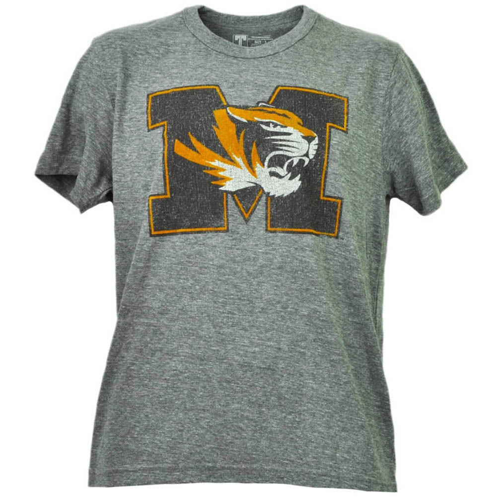 NCAA Missouri Tigers Distressed Logo Short Sleeve Tshirt Tee Mens Crew Neck XL