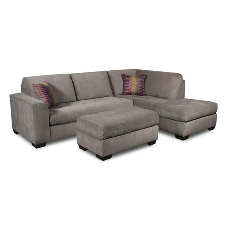 3 pc chaise sectional set with ottoman in gray for 3pc sectional with chaise