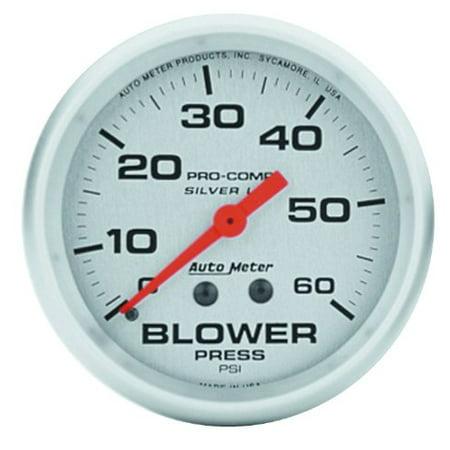 Auto Meter 4602 Silver LFGs Blower Pressure Gauge