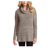 Jessica Simpson Ladies Cowl Neck Long Sleeves Drop Sweater (M, Tan)