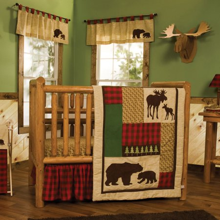 - Trend Lab Northwoods 6 Piece Crib Bedding Set