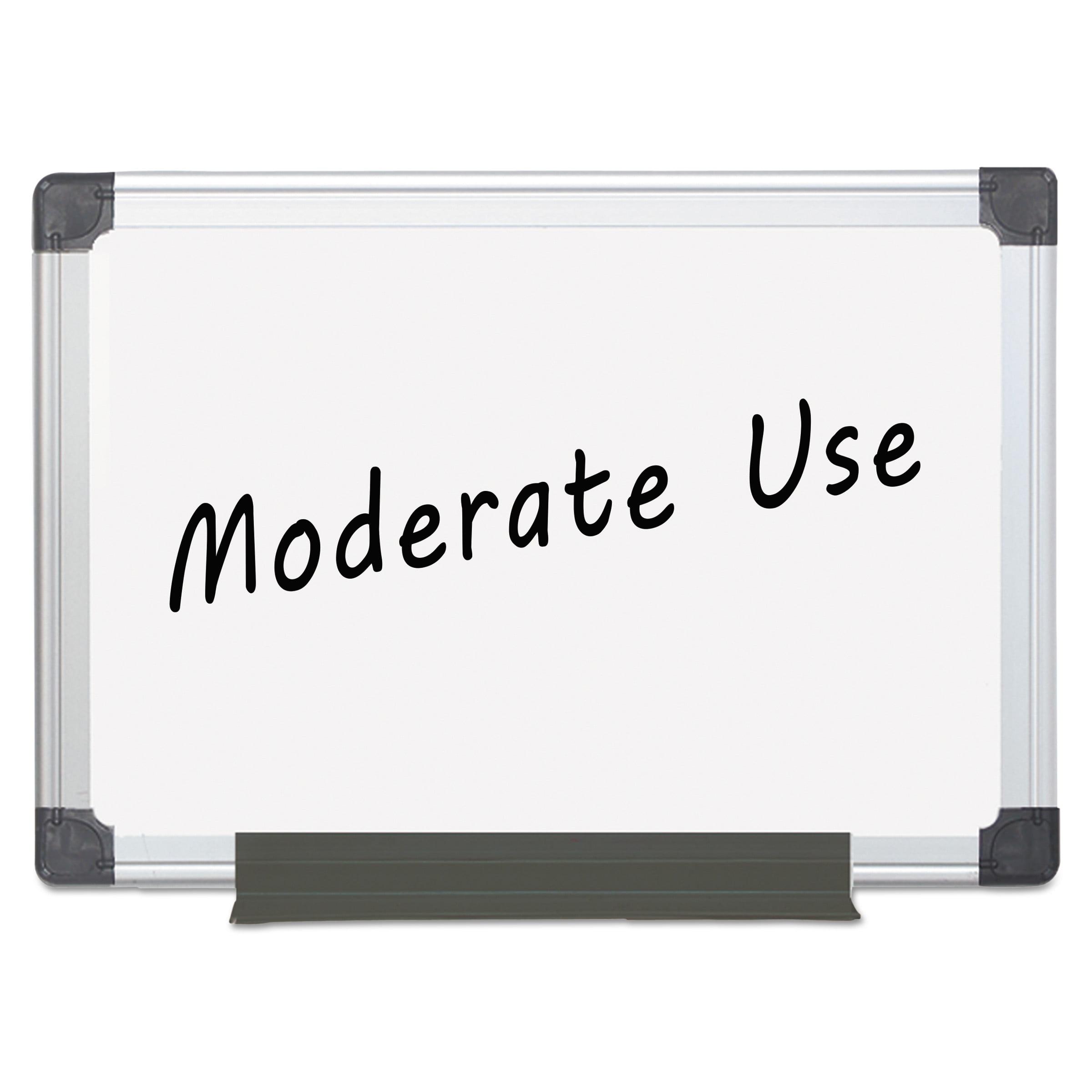 MasterVision Value Melamine Dry Erase Board, 36 x 48, White, Aluminum Frame