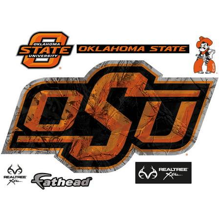 a014a4384f8ae Fathead Oklahoma State Cowboys Realtree Camo Teammate Logo - Walmart.com