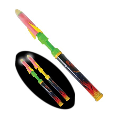 Multiple Rocket Launcher - Flashing Light Up Pump Rocket Toy Shooter Launcher