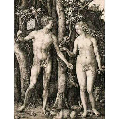 Adam and Eve Poster Print by  Albrecht Durer](Adam Eve Discount Codes)