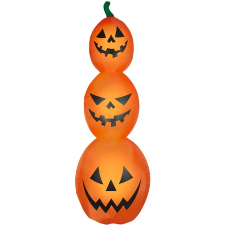 Gemmy Industries Yard Inflatables Jack-O-Lanterns, 5 ft