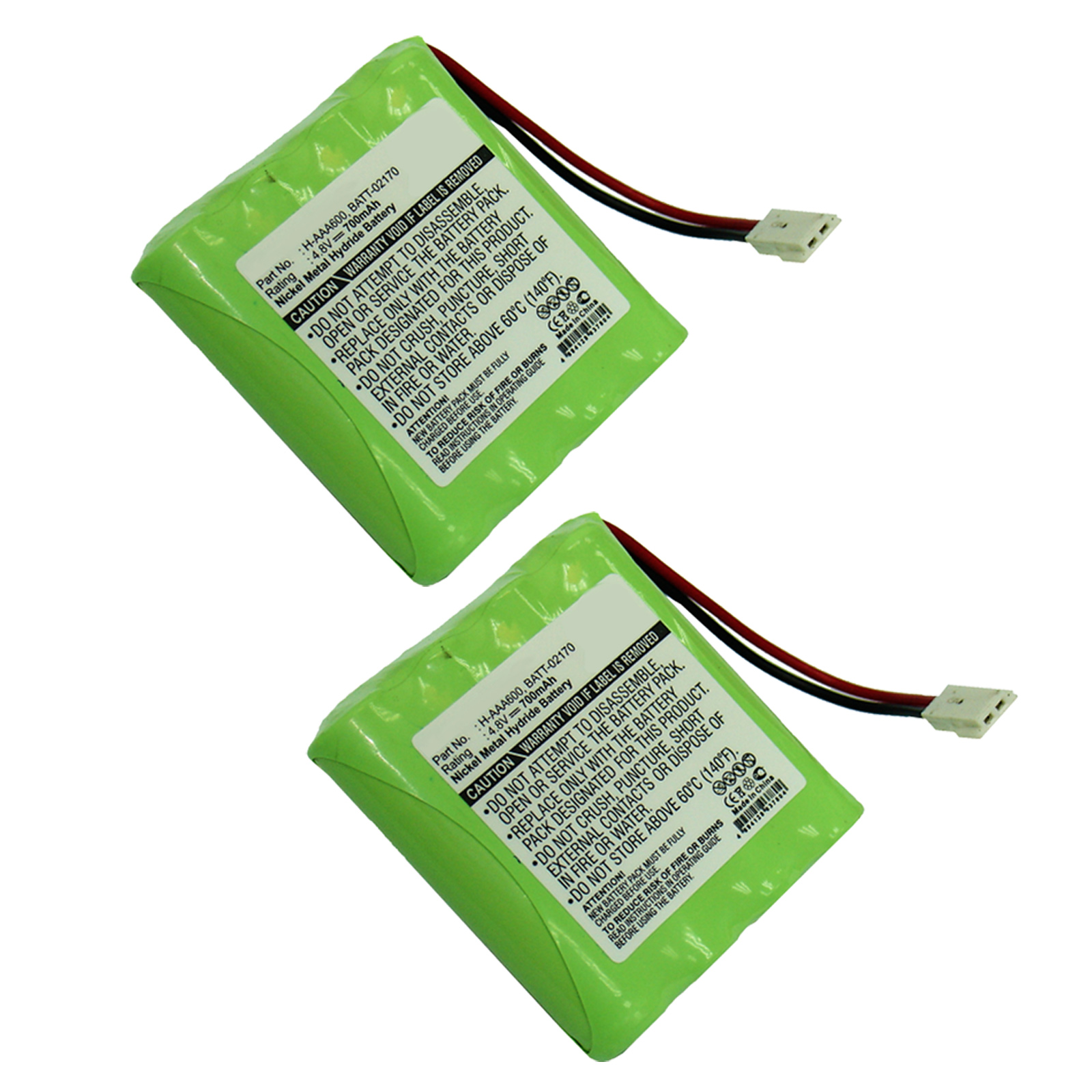 2x 4.8V 700mAh Baby Monitor Battery for Summer Baby 02170 02174 02320 H-AAA600