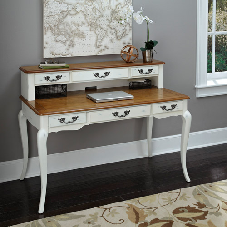 White Executive Desk With Hutch