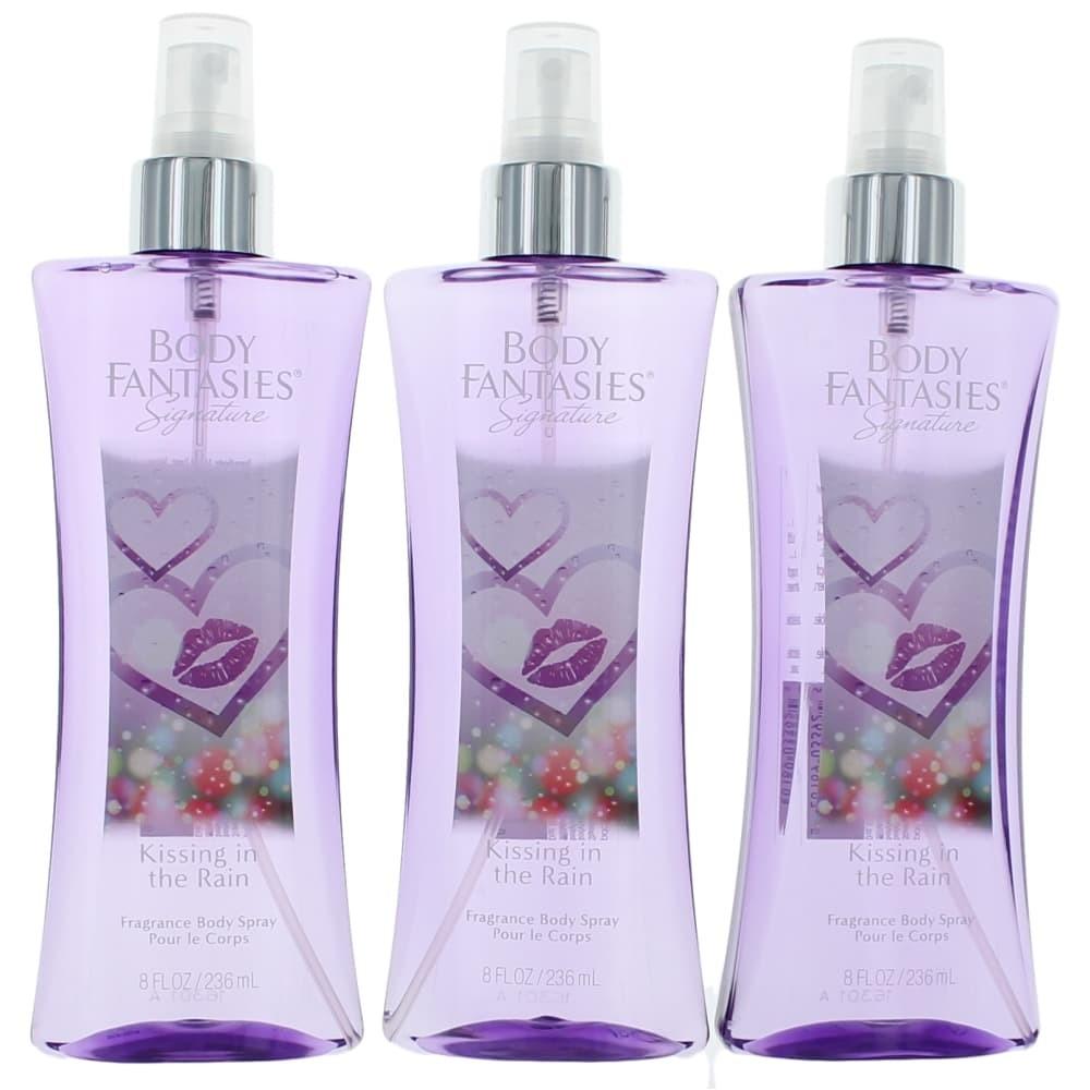 Kissing In The Rain by Body Fantasies 3 Pack 8oz Fragrance Body Spray women