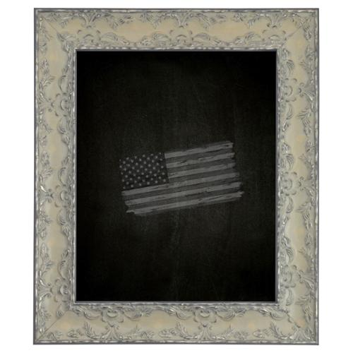American Made Rayne Maclaren Pewter Blackboard  Chalkboard Exterior Size: 42 x 42 by Overstock