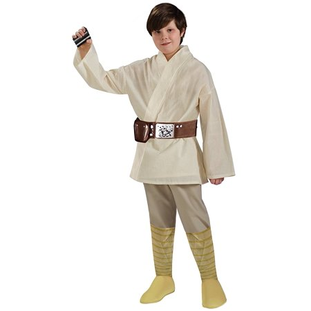 Star Wars Child's Deluxe Luke Skywalker Costume, Medium, Luke Skywalker costume includes tunic, belt, and pants with attached boot-tops By Rubie's](Luke Skywalker Tunic)