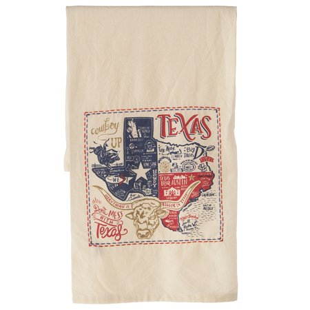 Primitives By Kathy  Texas State Embroidered Dish Towel