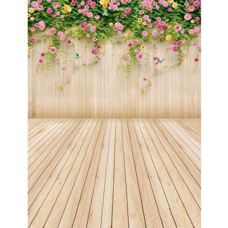 Photography Props For Sale (5x7ft Vinly Photography Background Flower Wood Floor Backdrop For Studio Photo Camera Prop Christmas Party )