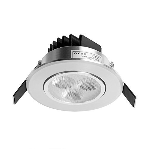 Le 3w Led Ceiling Lights Shiny Silver Warm White Recessed Light Fixture New Walmart Com Walmart Com