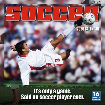 Calendars Soccer Wall Calendar with Full Color Pages - All Major & Significant Holidays ()
