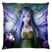 Anne Stokes Mystic Aura Throw Pillow White 18X18