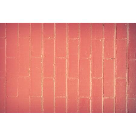 LAMINATED POSTER Brickwork Background Block Aged Brick Backdrop Poster Print 24 x (Aged Brick)