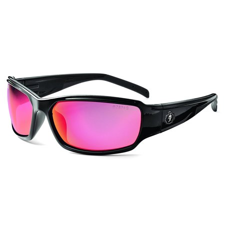 Skullerz Thor Safety Sunglasses - Black Frame, HCP Red Mirror Lens, Black frame with HCP red mirror safety lens for outdoor use, full sunshine and other.., By (Sunshine Sunglasses)