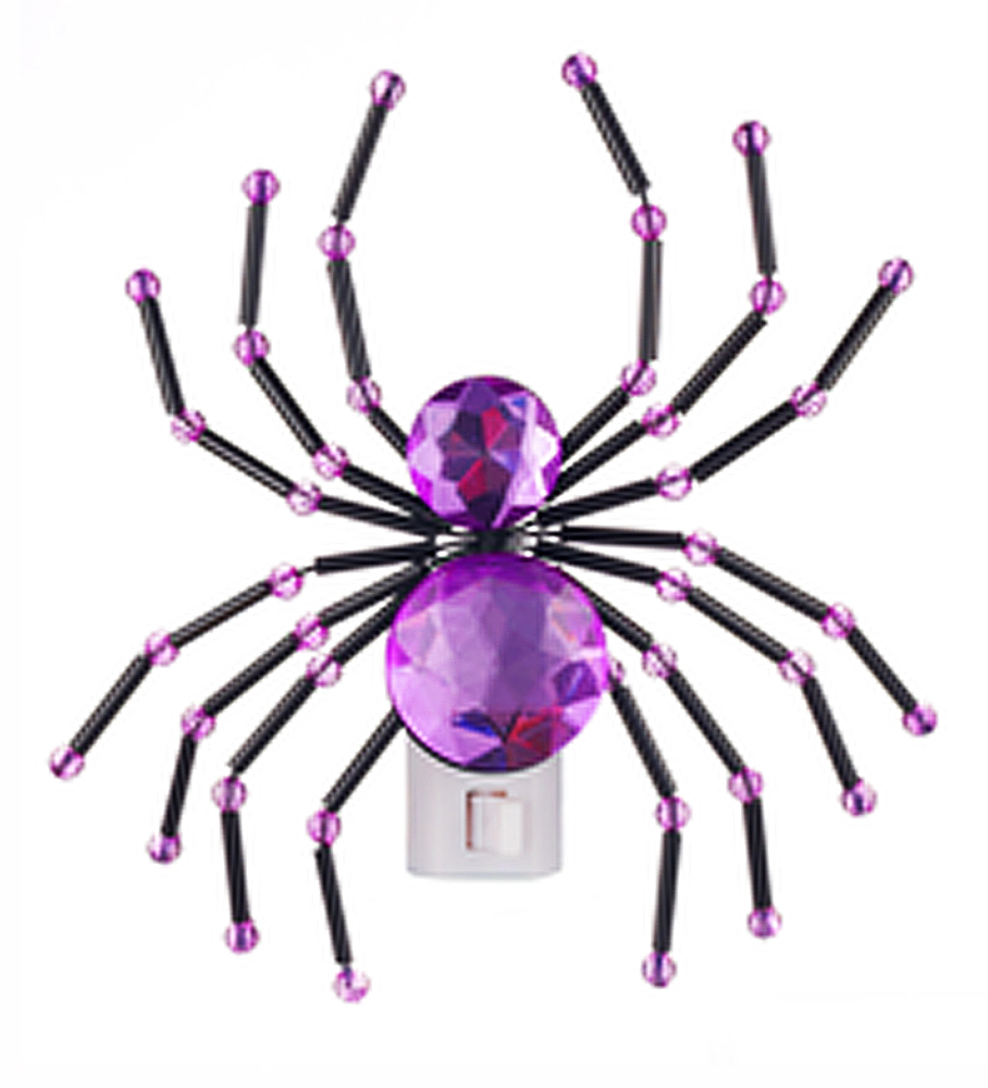 Crystal Spider Night Light: Purple - By Ganz