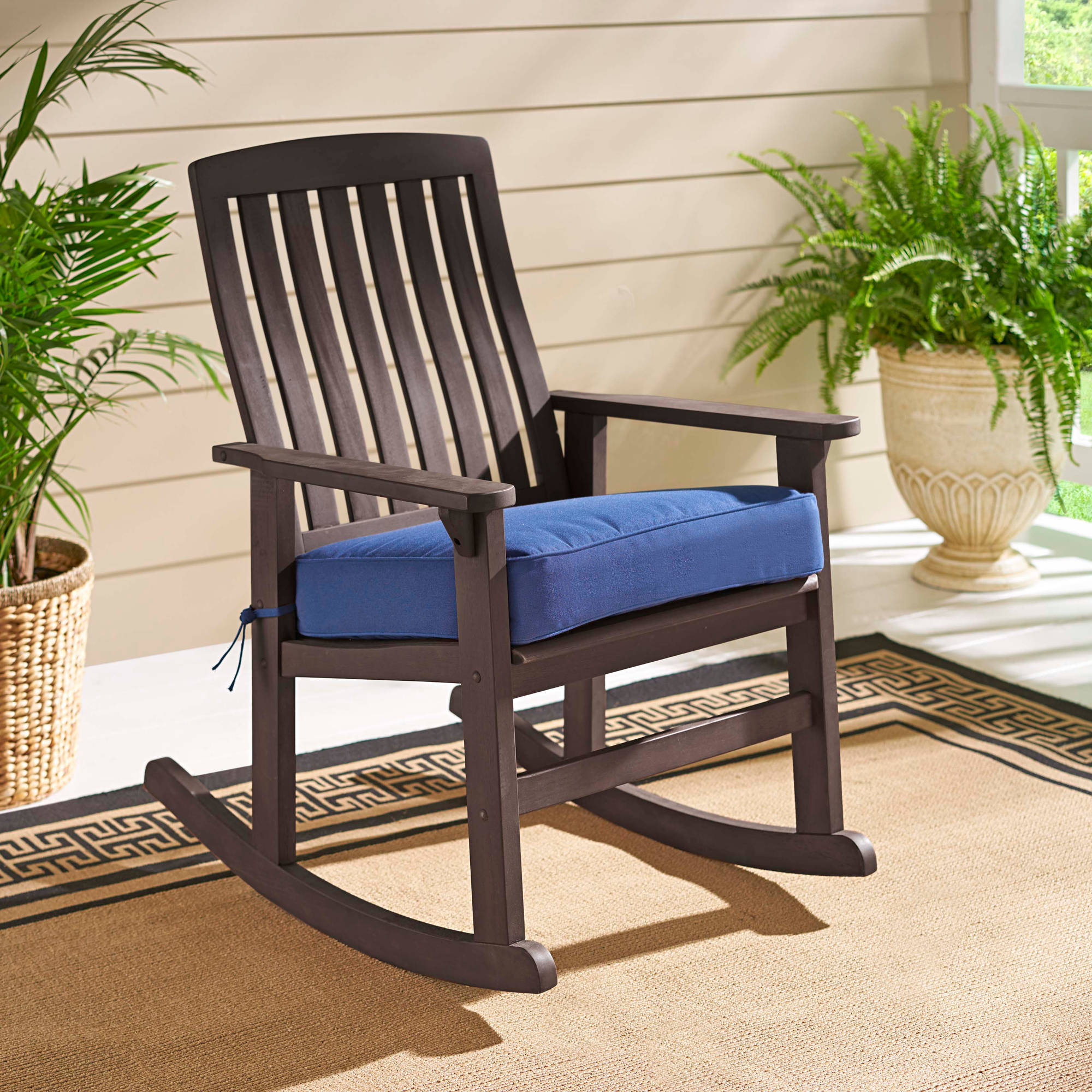 better homes and gardens delahey wood porch rocking chair walmartcom