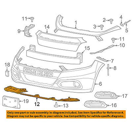 Front Bumper Shield (Dodge CHRYSLER OEM Dart Front Bumper-Splash Shield Under Engine Cover 68191423AD )