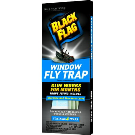 Black Flag Window Fly Trap Catches All Flying Insects 4 Traps ()