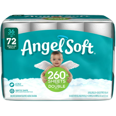 Angel Soft Toilet Paper, 36 Double Rolls (Best Toilet Paper For Your Money)