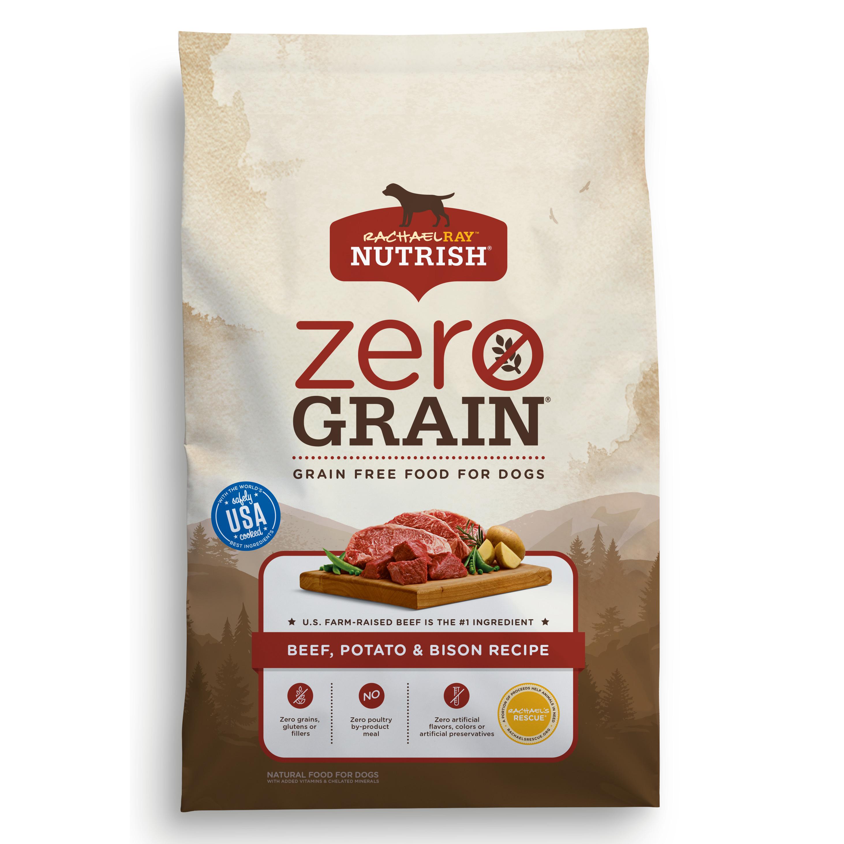 Rachael Ray Nutrish Zero Grain Natural Dry Dog Food, Beef, Potato & Bison