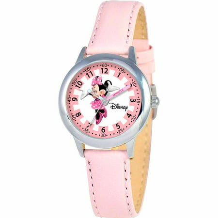 Minnie Mouse Wrist Watch (Minnie Mouse Girls' Stainless Steel Watch, Pink Strap )