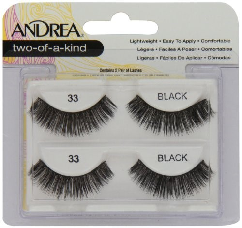 Andrea Twin Pack False Eyelashes, Style 33, Black, 2 Ct