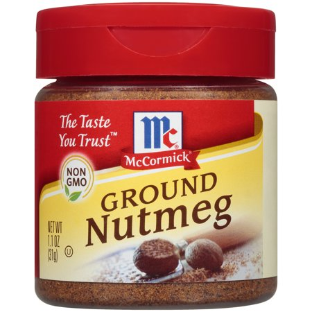 (2 Pack) McCormick Ground Nutmeg, 1.1 oz (Mccormick Ground Ginger)