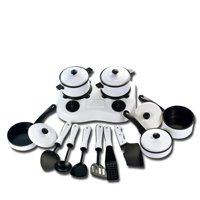 12 pcs Kids Play House Game Props Simulation Kitchen Utensils Cookware Children Educational Toys Kitchen Toys white