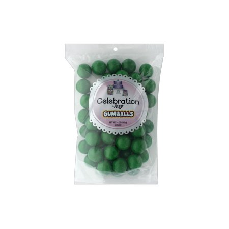 SweetWorks Gumballs 14oz Stand Up Bg Green - Mini Gumballs By Color
