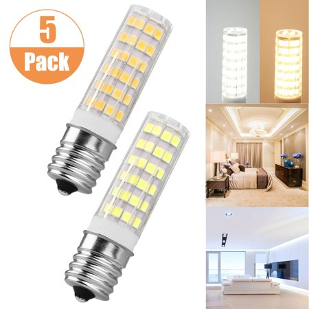 5-Pack 120V E17 LED Bulb 7W 650lm Warm White 3000k, Non-dimmable, Halogen Replacement Light Bulb, Appliance Bulbs Microwave Oven Stovetop